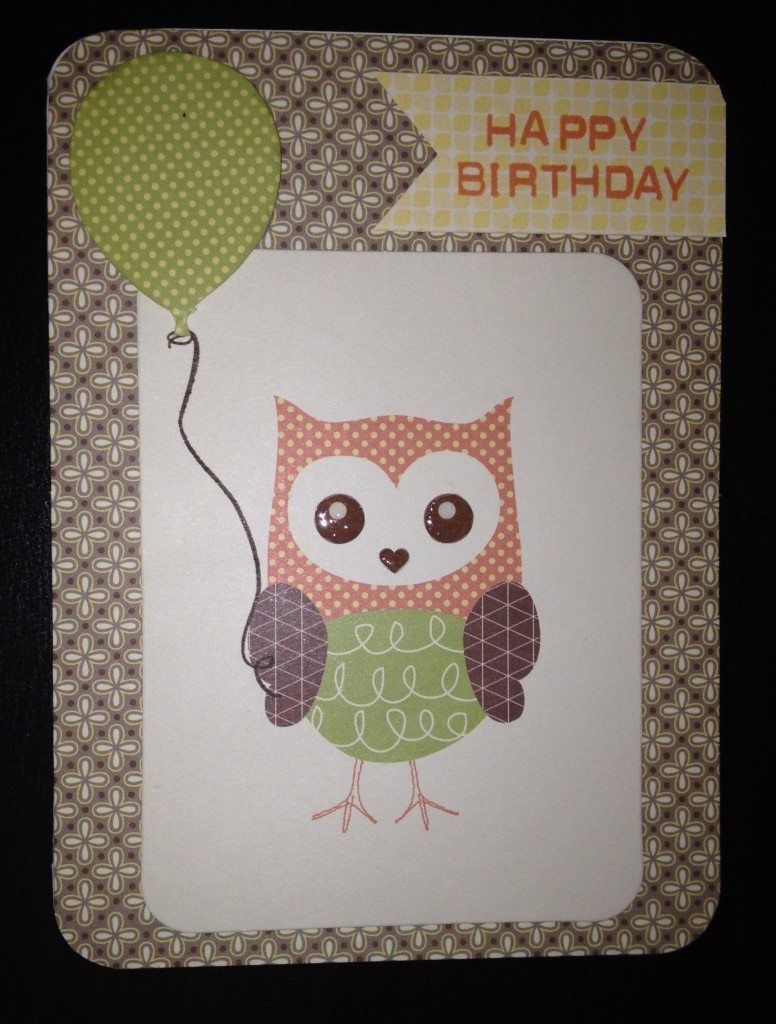 Owl Baloon Birthday Card BabyCake Picture My Life