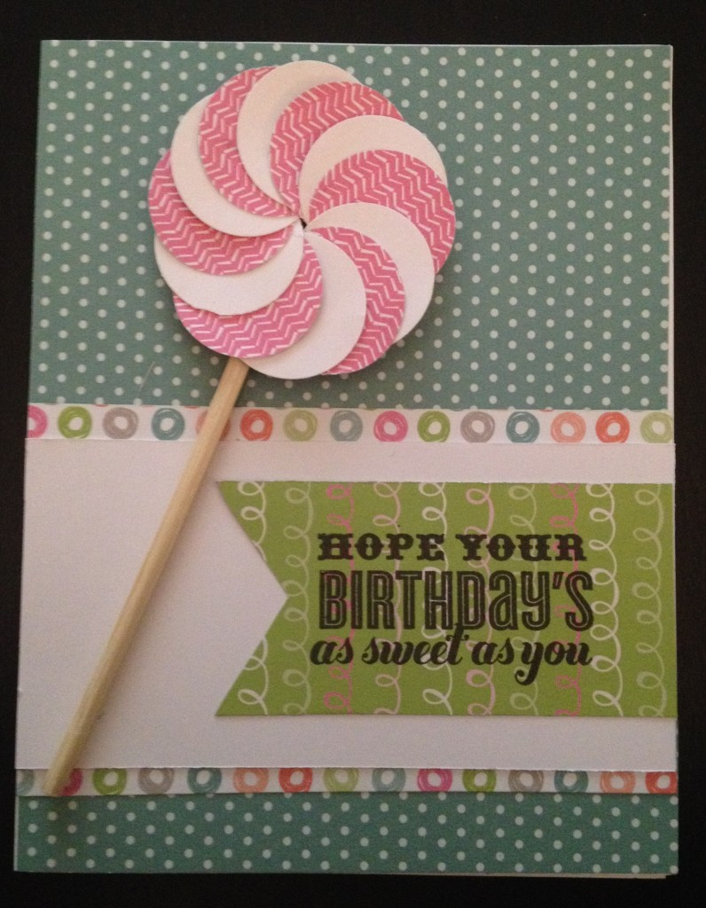 Sweet As You Lollypop Birthday Card Lollydoodle