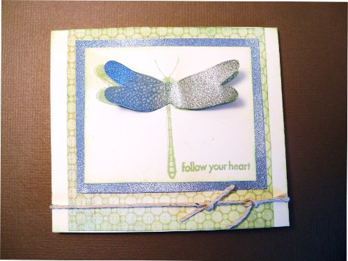 Dragonfly Card Using Shimmer Mist Technique Above