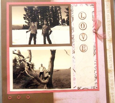 Sepia Toned Scrapbook Picture