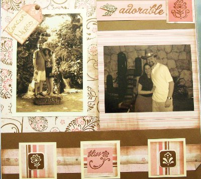 Sepia Toned Scrapbook Layout