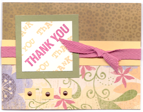 thank you card designs. Thank You Bella Card Design